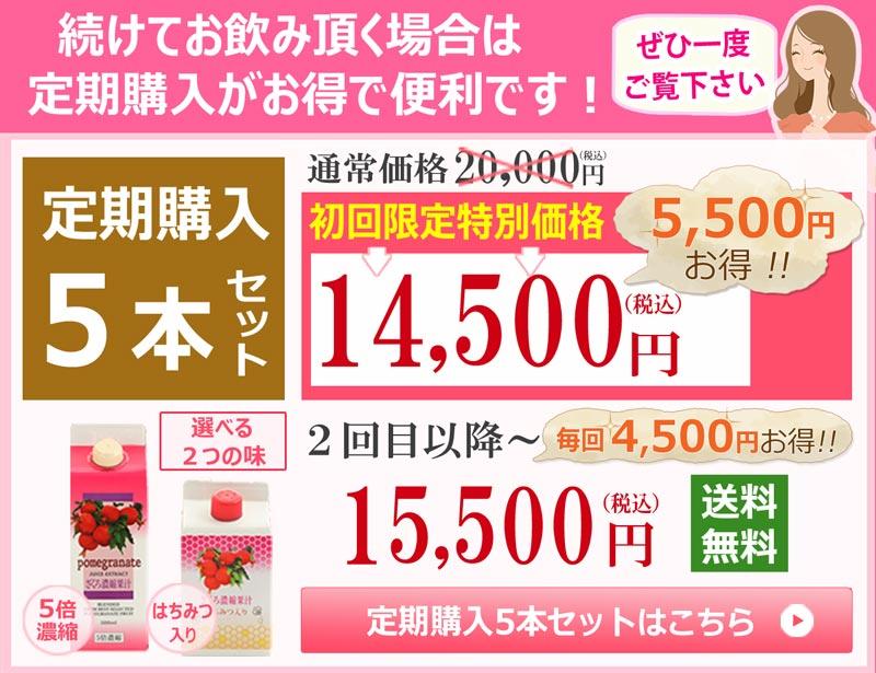ざくろジュース定期購入5本